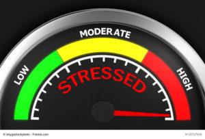 stress level conceptual meter indicating maximum 3d rendering