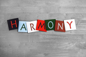 Harmony, sign series for music, singing, choir and bands