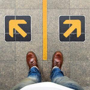 confusion  , direction , arrow