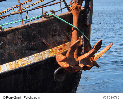 Marine boat ship metal anchor - marine boating transportation background image